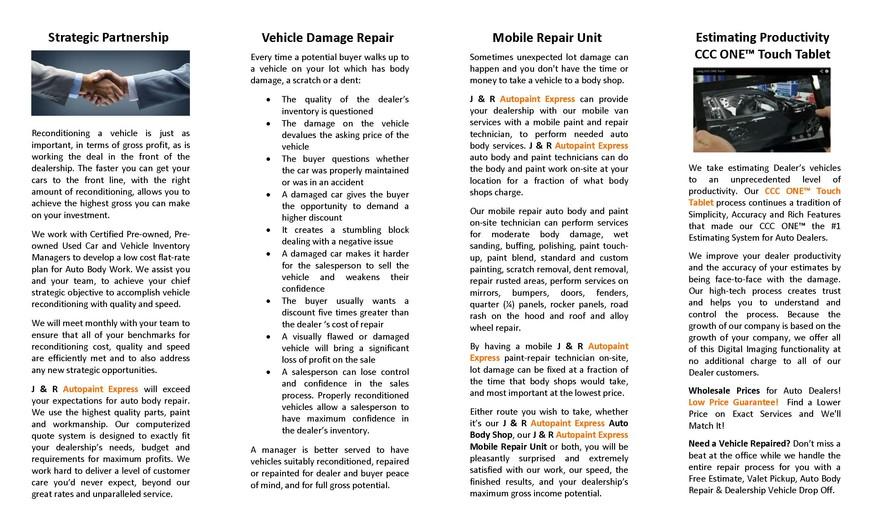 Auto Body Repair, Manassas, VA Dealer Brochure